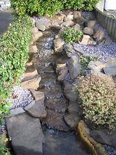 PRE-FORMED WATERFALL WATER FEATURE, 'The Rapids', garden stream / cascade