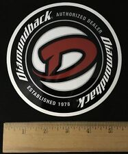 "Diamondback Authorized Dealer Sticker (5.5"" Diameter)"