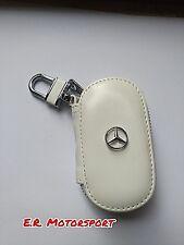 Portachiavi in cuoio BIANCO contenitivo Mercedes Classe A B C E