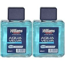 2 x 400 ml - WILLIAMS AFTER SHAVE - AQUA VELVA - 400 ml x 2