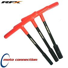 RFX PRO T-BAR SET 8mm 10mm 12mm STANDARD REACH RUBBER HANDLE YAMAHA YZF250