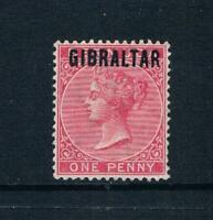 """Gibraltar 1886 - 1d  on Bermuda Ovprtd """"Gibraltar"""" SC 2 [SG 2] MINT 20"""
