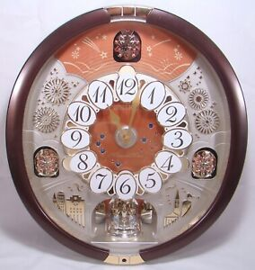 Seiko Special Edition Melodies in Motion Wall Clock w/ 16 Swarovski Crystals