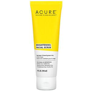 Acure Organics Brilliantly Brightening Facial Scrub 4 fl oz 118 ml Cruelty-Free,