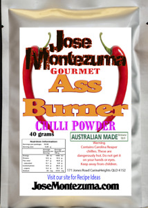 Gourmet Ass Burner Chilli Powder with Carolina Reaper 40 gram chili chillies