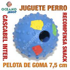 JUGUETE PERRO PELOTA GOMA RECOMPENSA SNACK CASCABEL INTERIOR 7,5 cm L153 2574