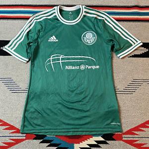 2013 Adidas Palmeiras training soccer jersey Men's Size Medium Green 3 Stripes