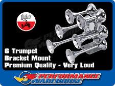 CHROME 6 TRUMPET TRUCK AIR HORN TRAIN AIR HORN BRACKET MOUNT
