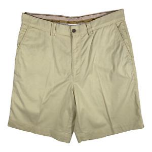 Tommy Bahama Mens Sz 33 Walking Golf Shorts Yellow Flat Front Tencel Cotton