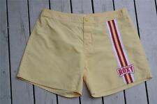 ROXY SKATE TEAM Logo NEW Size 10 Lemon/Red/White Short Boardshorts