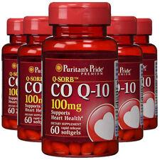 Coenzyme CoQ10 CO Q-10, CoQ-10,100 mg 5X60 gels USA Q-Sorb Puritan FREE SHIPPING