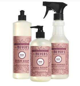 Mrs. Meyer's Clean Day Everyday Basics Set Multi-Surface Dish & Hand Soap