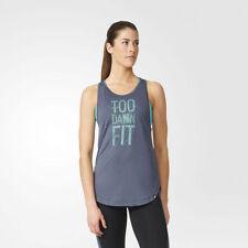 Vêtements de fitness gris adidas pour femme