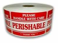 Hybsk 3x5 inch Handle with Care Thank You Glass Stickers Adhesive Label 100 Per Roll 3x5 inch
