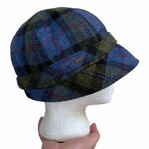 NEW Mucros Weavers Flapper Hat Women's Wool Plaid Adjustable