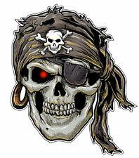 Skull Pirate Bumper Sticker Vinyl Decal