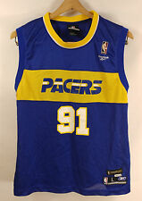 Ron Artest 91 Indiana Pacers NBA Authentic Jersey Reebok Metta World Peace Youth