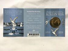 Korean War 50th Anniversary Commemorative Coin 1953-2003 Australia $1