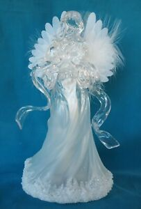 """Fiber Optic 11"""" Angel Decoration with Slowly Changing Colors - NEW"""