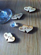 X50 l'onorevole & Mrs cuore in legno Tavolo Confetti, Matrimonio, Feste, favorisce