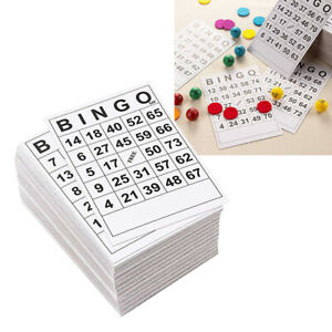 60pcs BINGO Cards 60 Sheets 60 Faces no duplicate Single Design 6 x 7 Inches