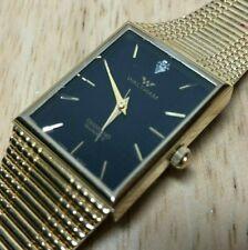 Vintage Waltham Men Gold Tone Real Diamond Analog Quartz Watch Hours~New Battery