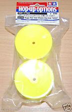 Tamiya 54749 Buggy Rear Dish Wheels (Hex Hub, Yellow) (DB01RRR), NIP