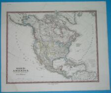 1876 ORIGINAL MAP TEXAS UNITED STATES CALIFORNIA FLORIDA CUBA MEXICO CANADA