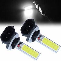2x 881 H27W 20W 12V 6000K COB LED Fog Driving Light DRL Light Lamp Bulb White