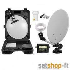 Camping Digitale Mobile mini SAT-Anlage im Koffer Saugfuß Schüssel HD Satfinder