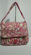 "Vera Bradley ""Paisley Meets Plaid"" Messenger Bag / ""Retired Print"" / Pre-Owned"