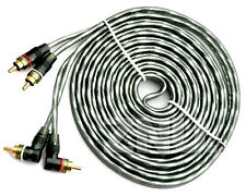 Grey Flexible 2CH 15ft Car Stereo Audio connect Pure Copper Shielded RCA Cable