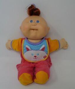 """Cabbage Patch Doll 14"""" OAA 1978 1983 Xavier Roberts Red Cat Sleeper"""