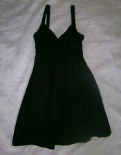 J CREW BLACK SIZE 2 COTTON DRESS LINED KNEE LENGTH FUN OR FORMAL