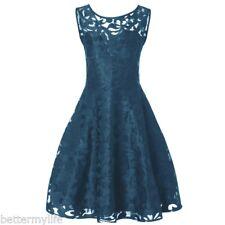 Women`s Midi Dress Plus Size Short Formal Lace Vintage Party Skirt L/2XL/4XL/5XL