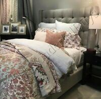 Pottery Barn Harlowe Quilt Set King 2 King Shams Floral Patchwork Palampore New