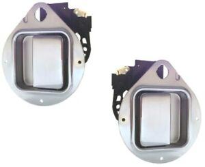 Chrome L & R Outside Door Handle for Peterbilt 330 335 349 353 359 370 378 379