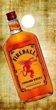 Corn Hole Graphic - Fireball Whiskey Bottle (Single Graphic)