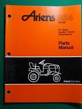Ariens 834 Lawn & Garden Tractors Parts Manual