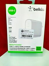 NEW Genuine Belkin Boost Charge 2 Port 27W USB-C + 12W USB-A Wall Charger**