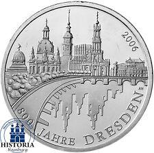 Deutschland 10 Euro Silber 2006 bfr 800 Jahre Dresden Münze in Münzkapsel