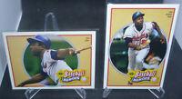 1991 Upper Deck Hank Aaron Baseball Heroes 2 Card Lot HOF ATLANTA BRAVES