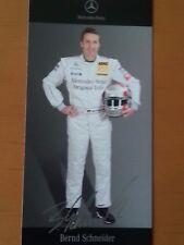Bernd Schneider DTM 2007 Autogrammkarte gedruckte Unterschrift von Mercedes-Benz