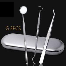 Stainless Steel Dental Set Dentist Teeth Kit Oral Clean Probe Tweezers Tool