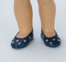 Navy Star Flats Shoes fits American girl dolls 18 inch Doll Clothes