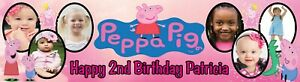 Peppa Pig Birthday Party Banner Personalized with photos
