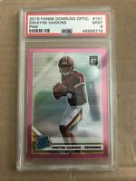 2019 DWAYNE HASKINS PANINI DONRUSS OPTIC PINK REFRACTOR ROOKIE RC PSA 9 MINT 151