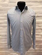 SARTORIA PARTENOPEA Napoli Hemd Shirt Check Gr.39(15 1/2) Made in Italy!