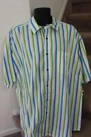 Tommy Hilfiger Men's Size XL Denim Stripe Cotton Button Front Shirt XLarge