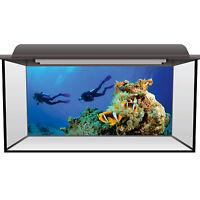 Aquarium Fish Tank Background Static Cling - Scuba Diving Fluval Juwel #0001